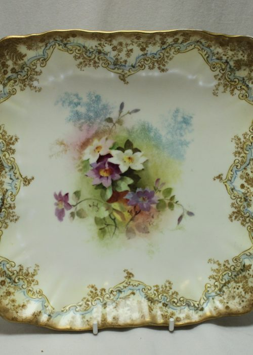 Doulton Burslem hand painted footed bowl
