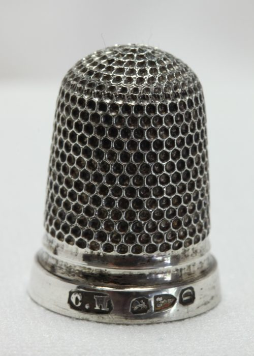 Sterling silver thimble by Charles Horner Chester 1887.