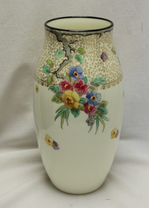 Royal Doulton hand coloured porcelain vase