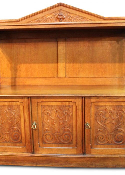 Oak two tier sideboard