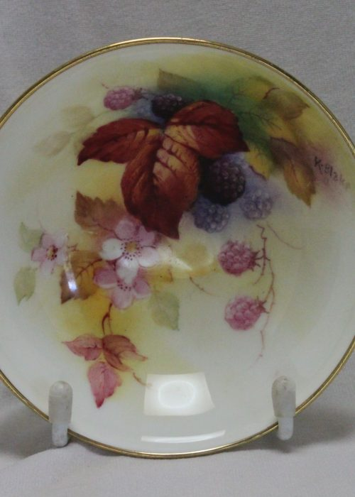Royal Worcester dish painted by Kitty Blake