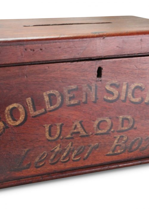 Cedar letter box for United Ancient Order of Druids