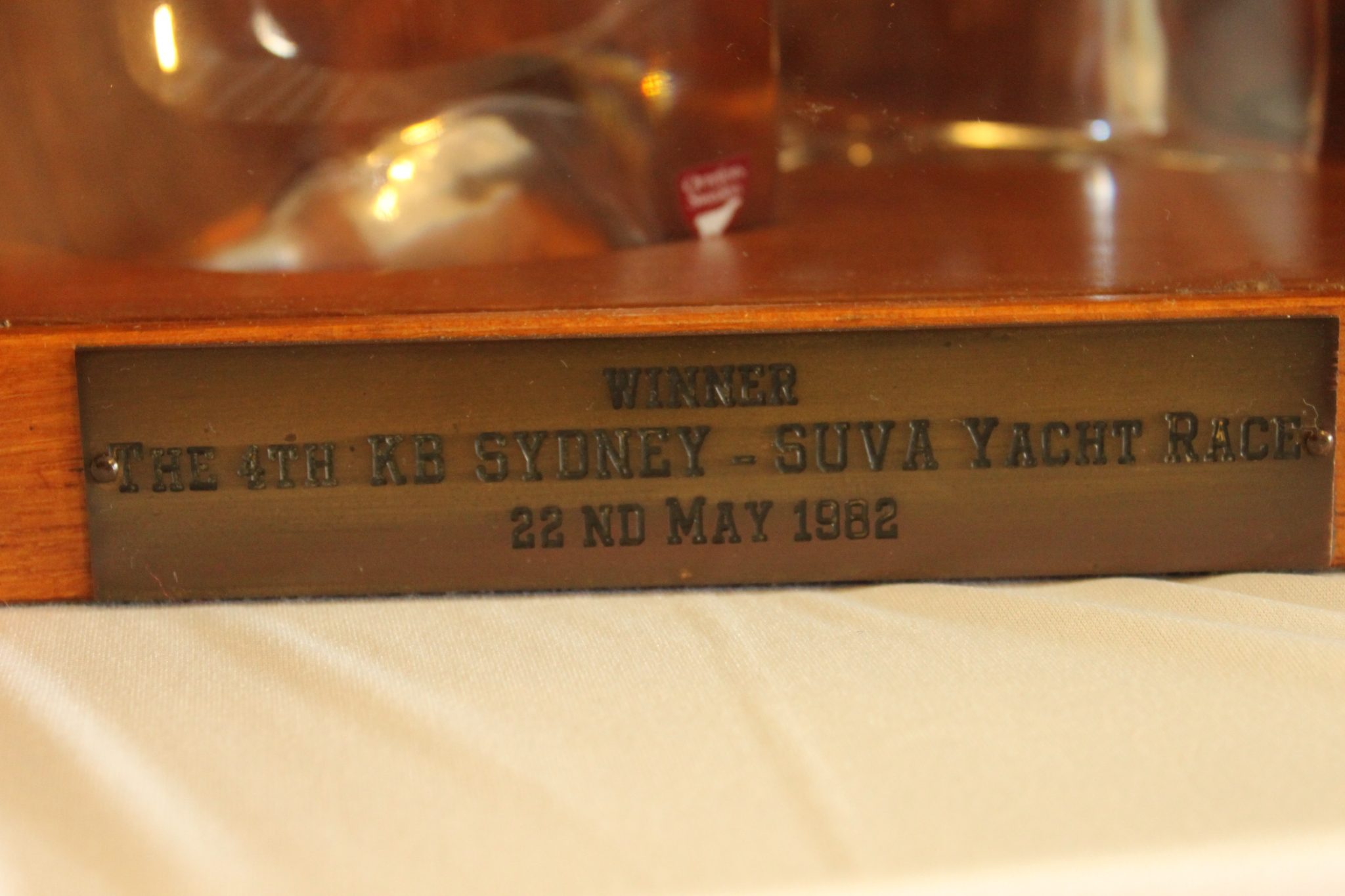 Sydney to Suva yacht race trophy 1982