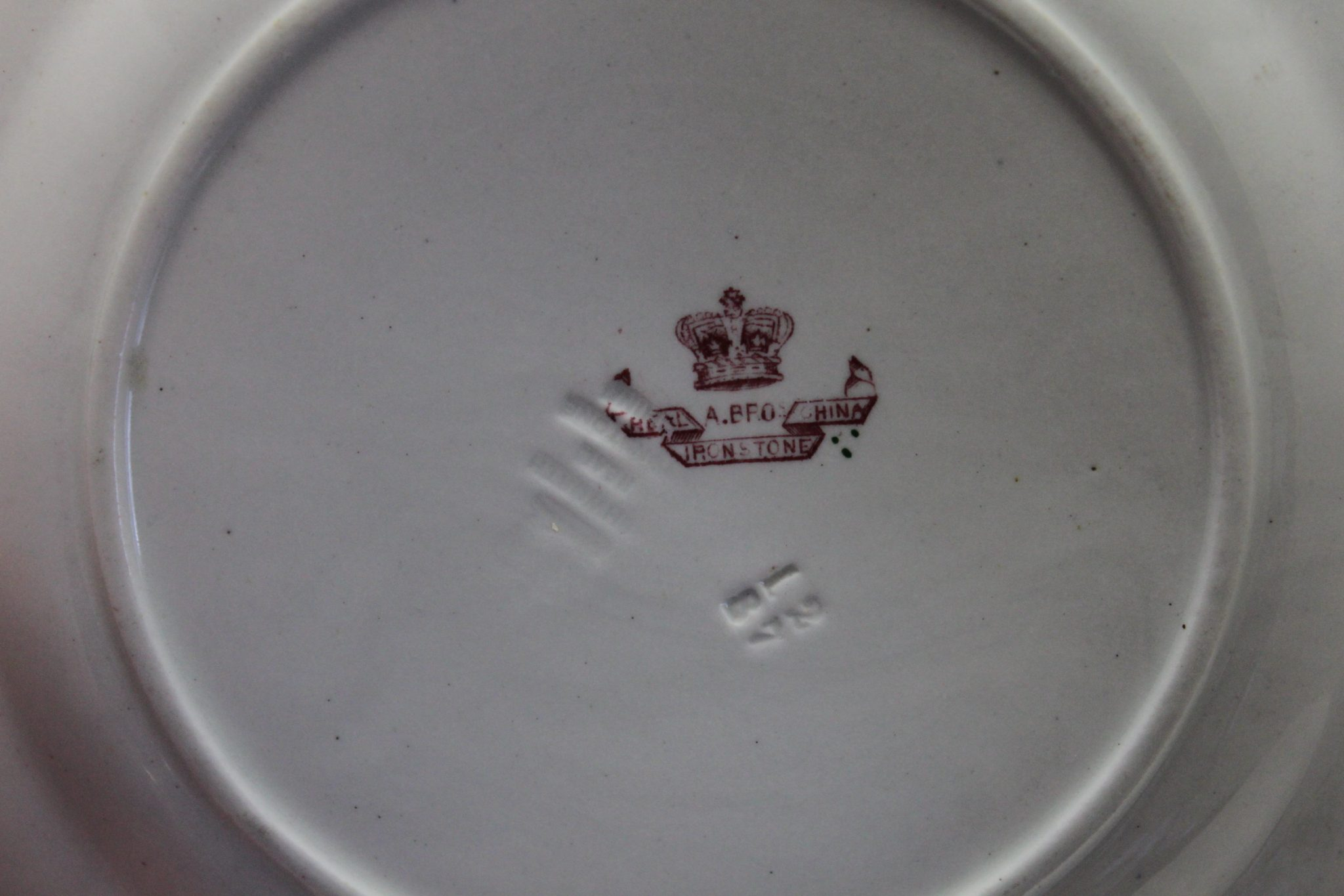Ashworths Ironstone China plate