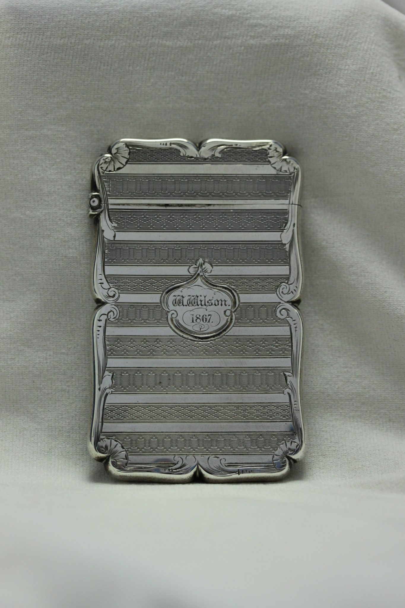 Sterling silver card case by Edward Smith of Birmingham 1853