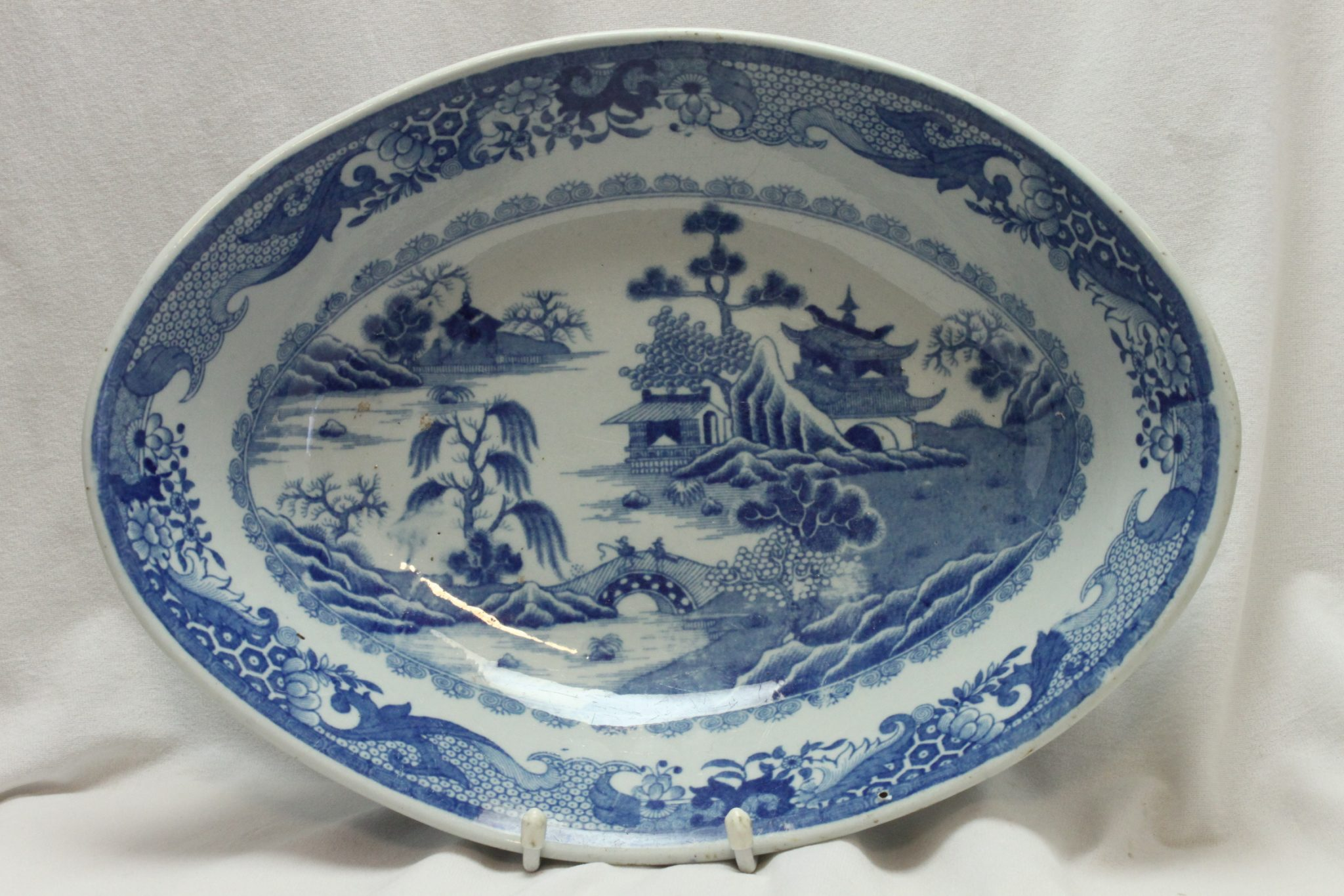 Blue and white bowl c 1810
