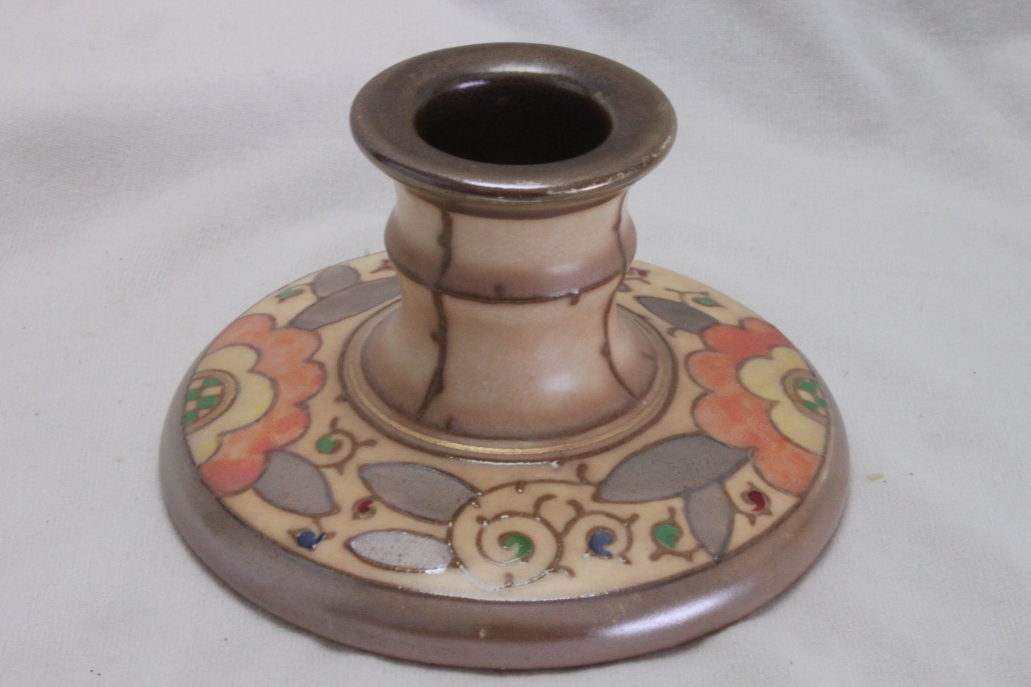 Candle holder by Charlotte Rhead pattern TL 3