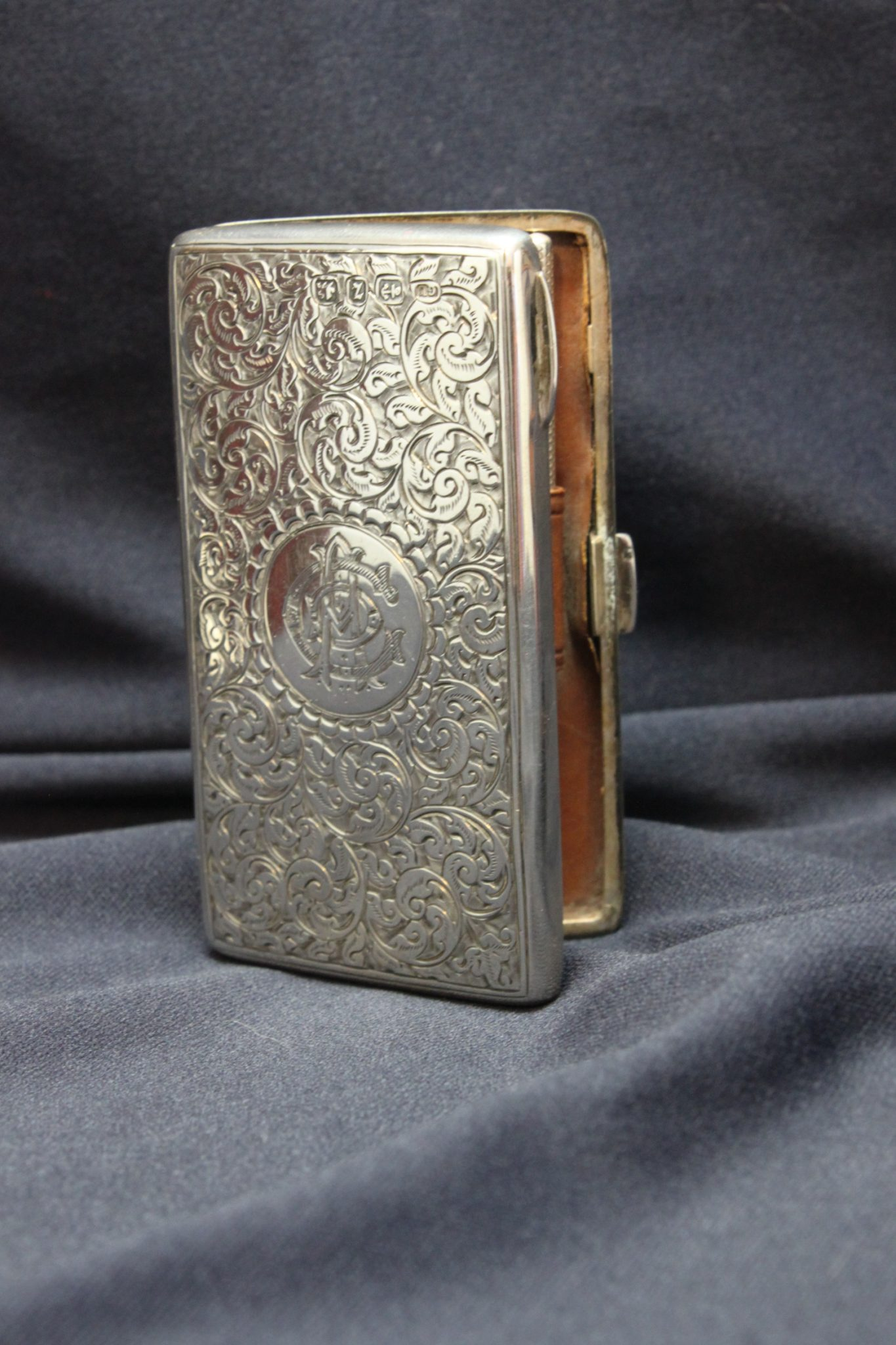 Sterling silver card case by George Unite
