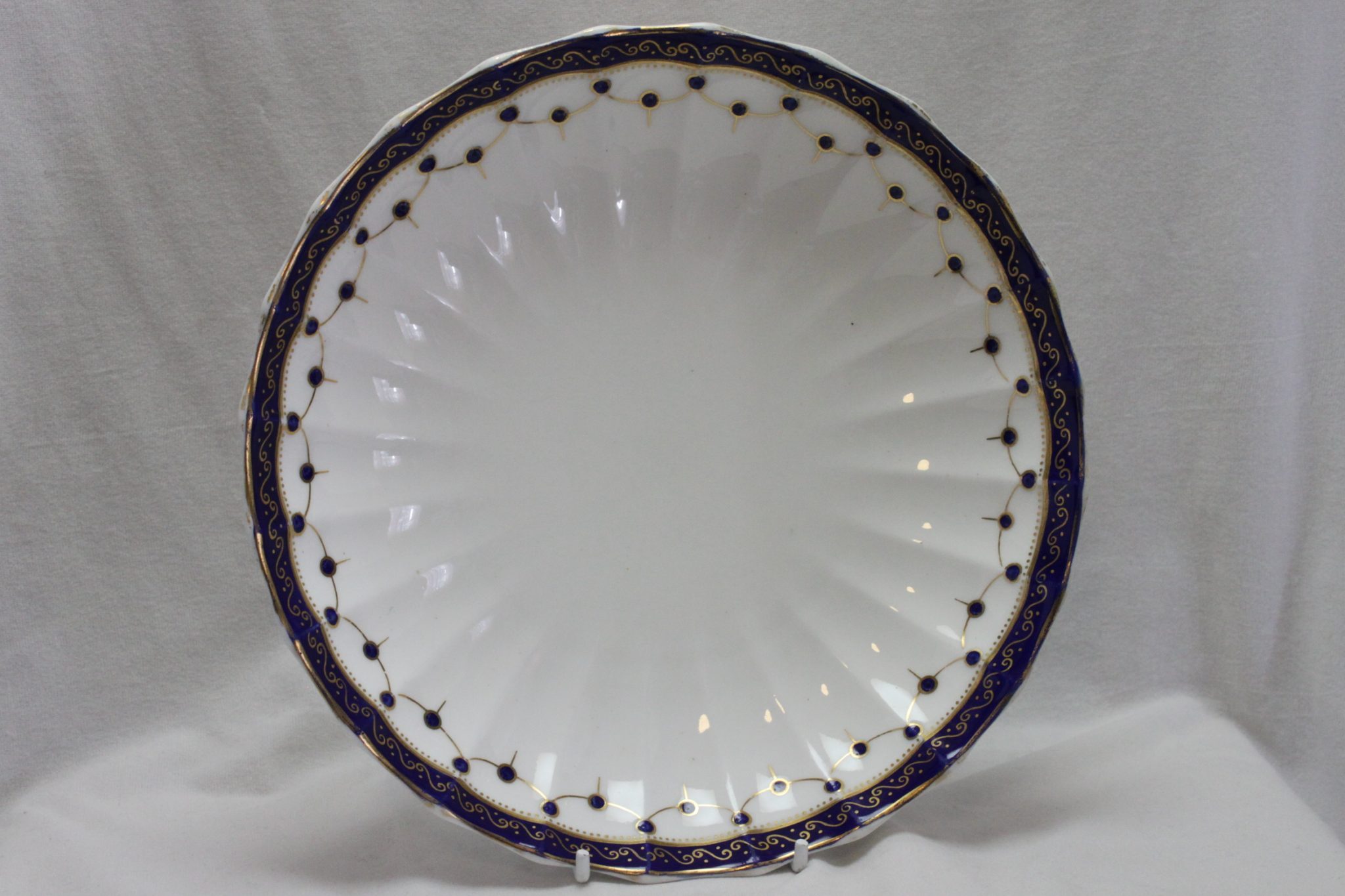 Crown Derby blue and gilt bowl