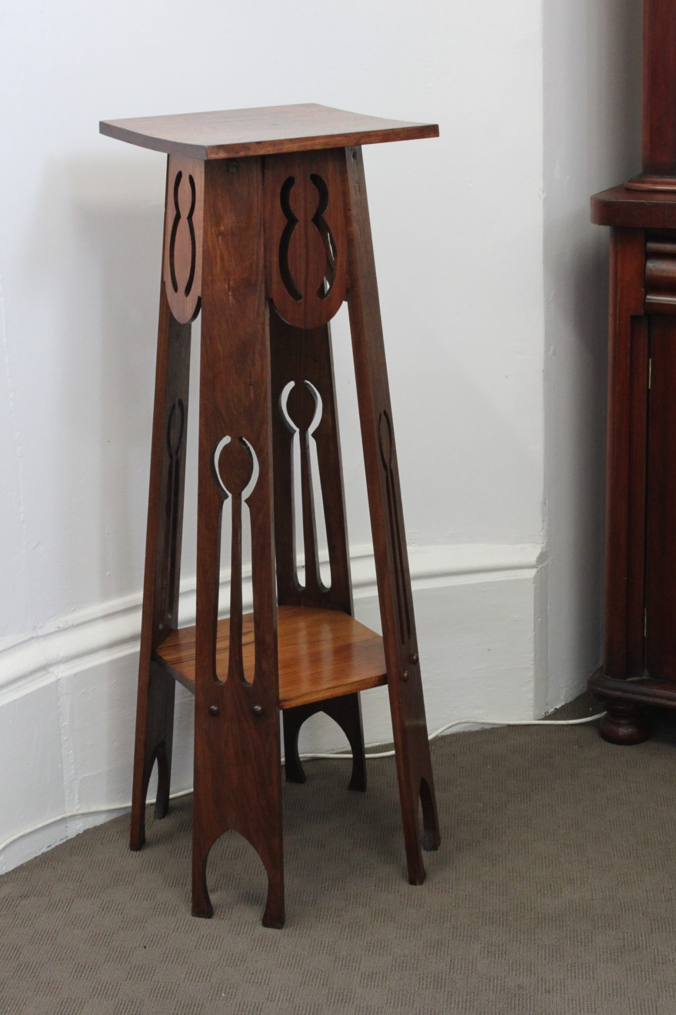 Two tier Foy & Gibson blackwood plant stand