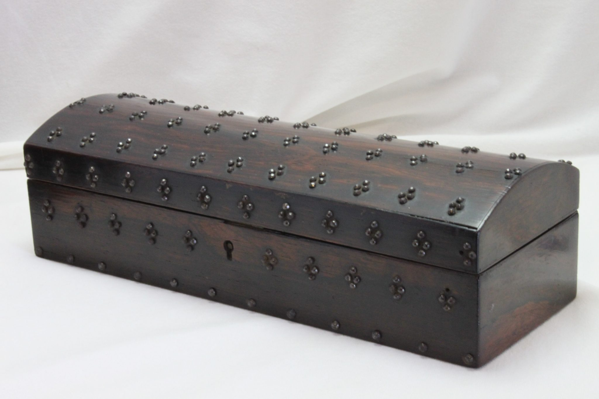 Studded rosewood veneer jewellery box