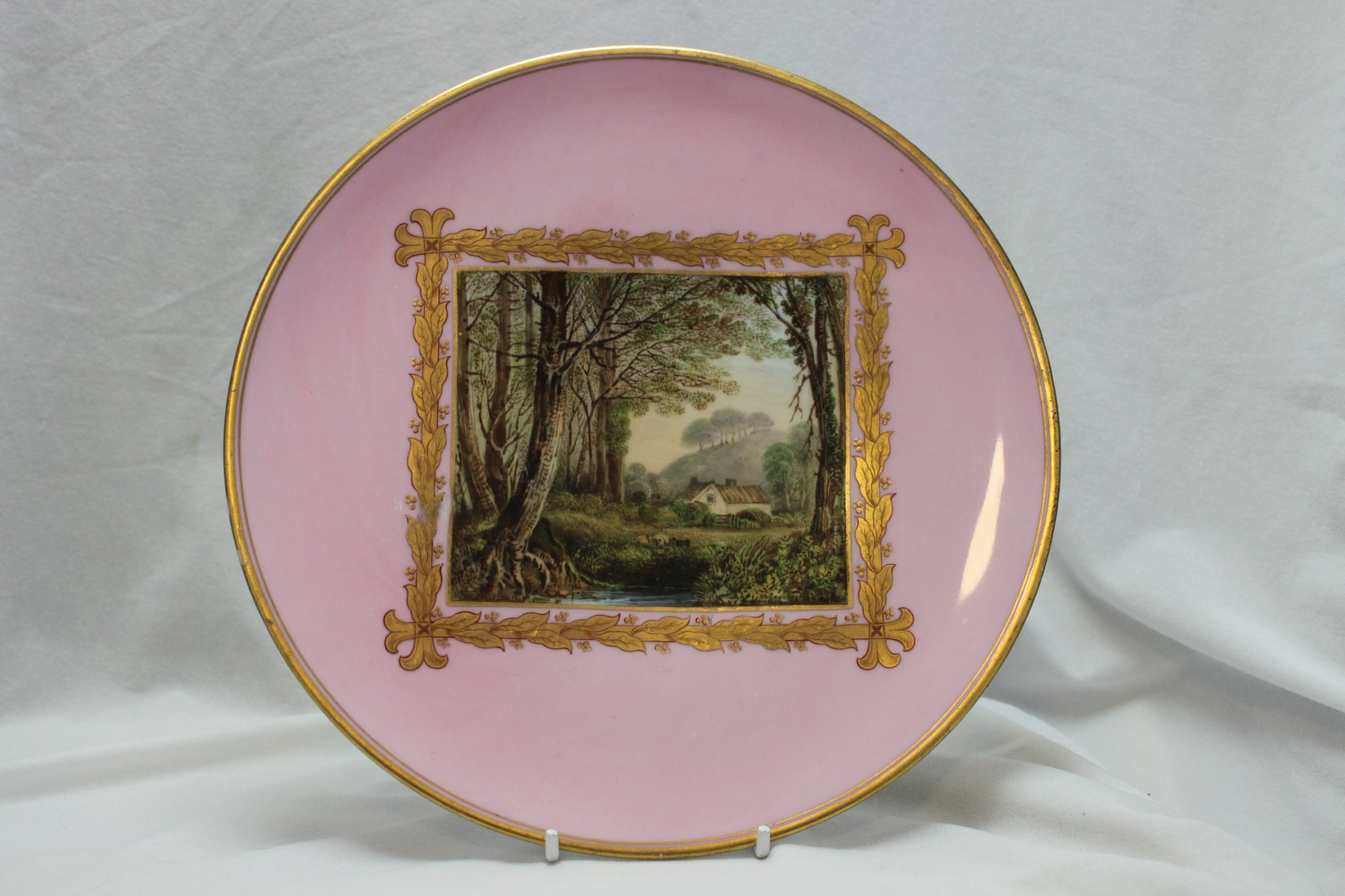 Davenport hand painted plate