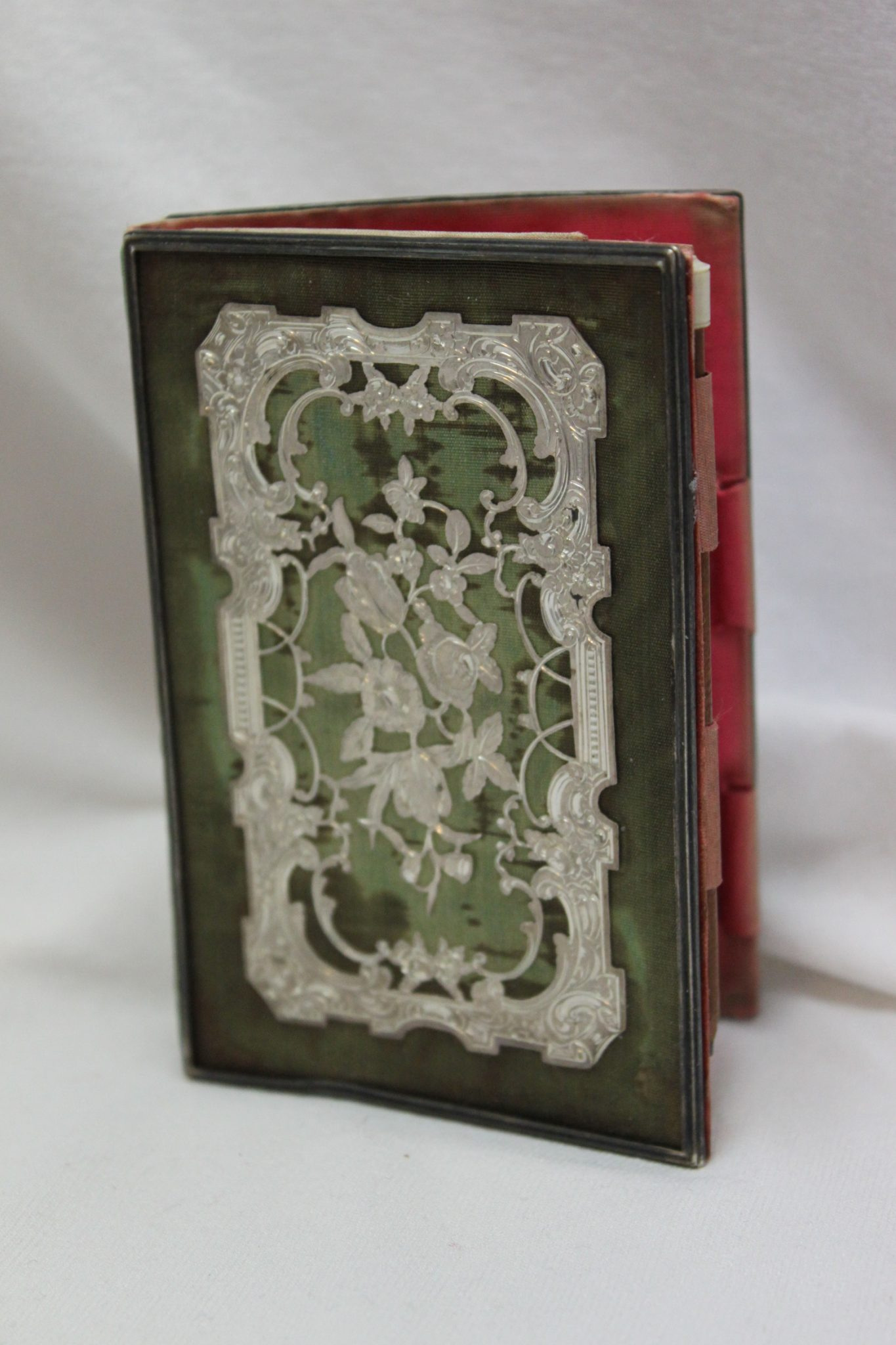 Book shaped card case with notebook