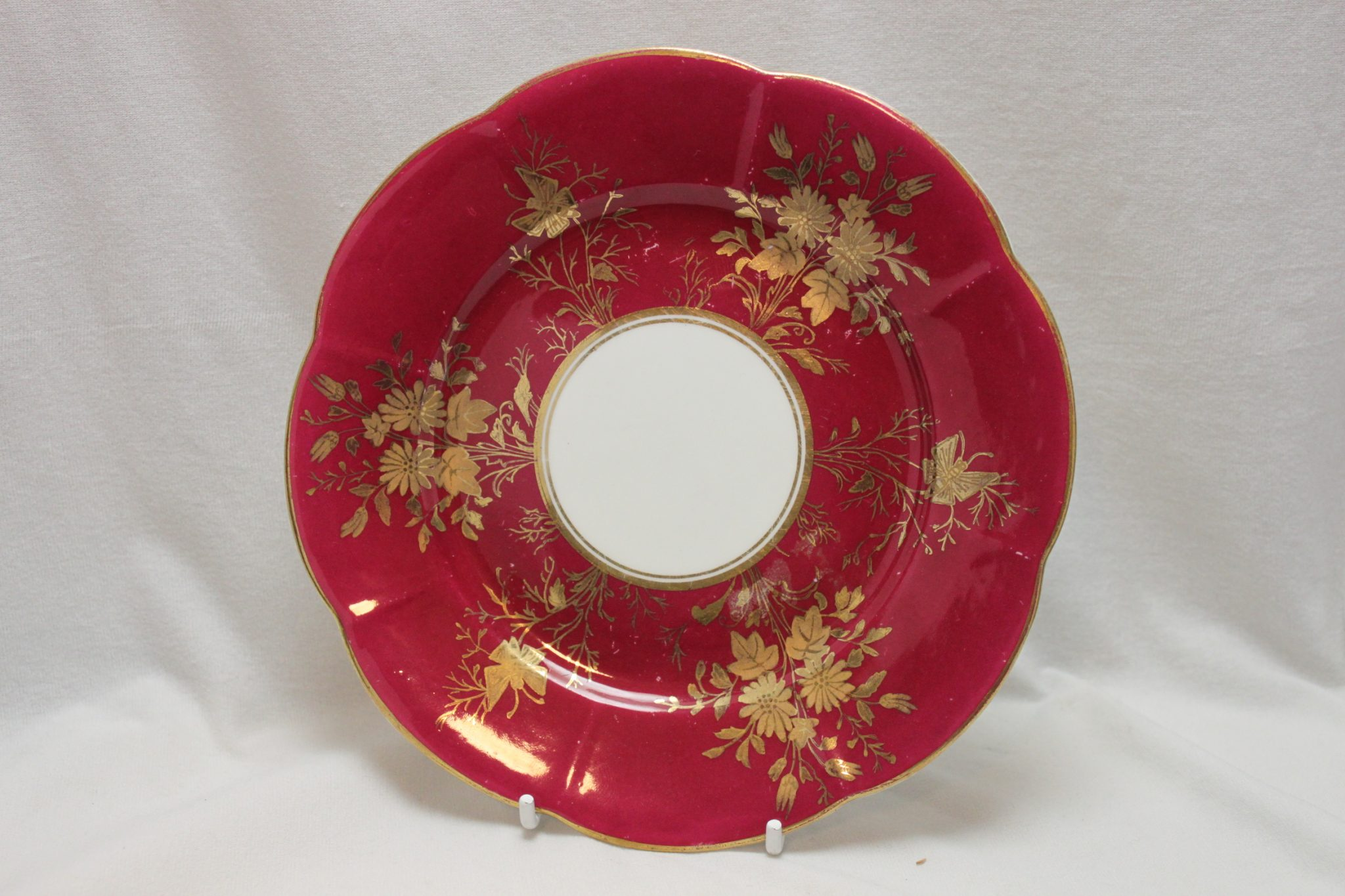 Wileman small plate Daisy & butterfly pattern 3818