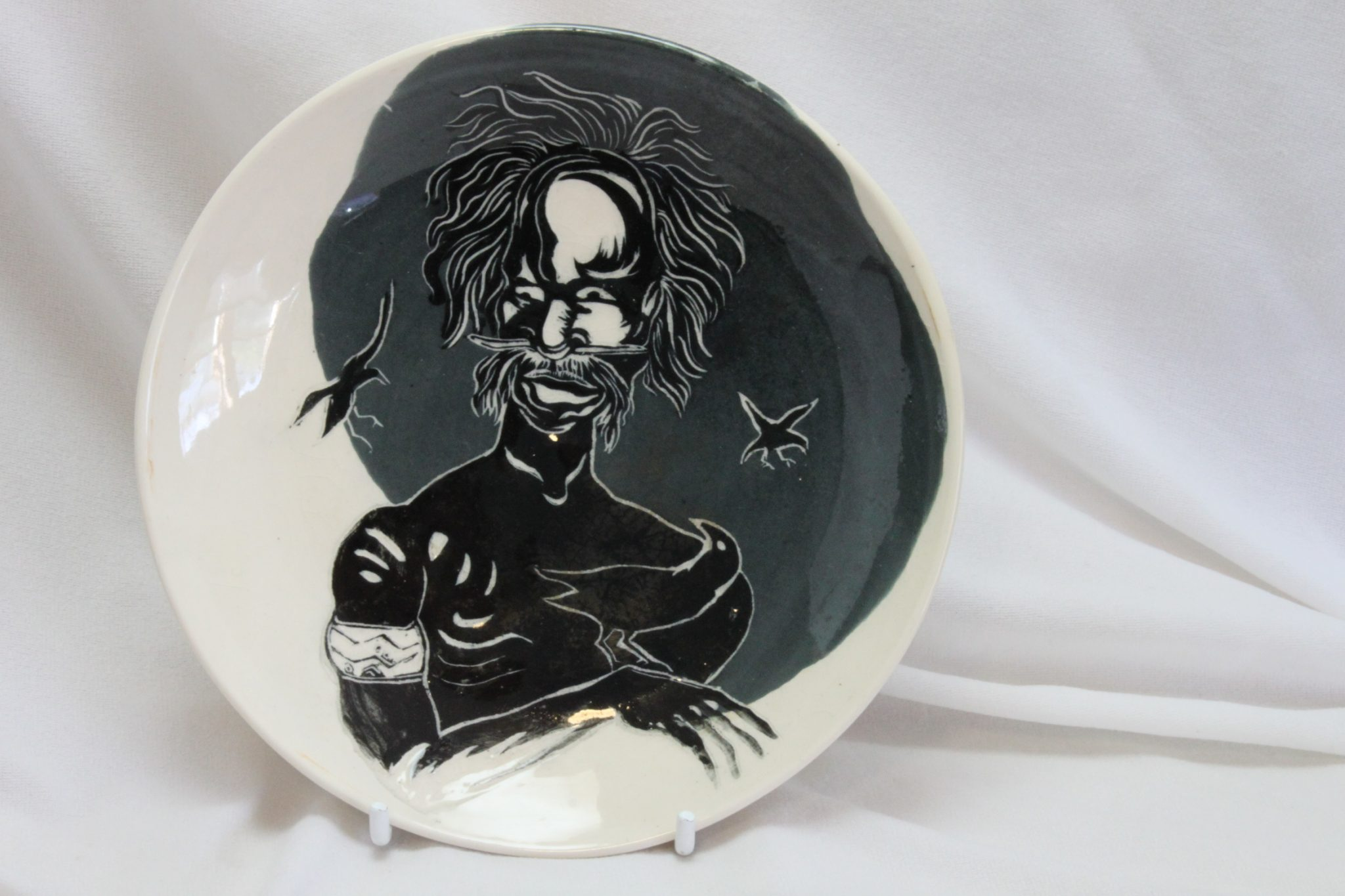 Pottery dish/wall plaque by Janice James