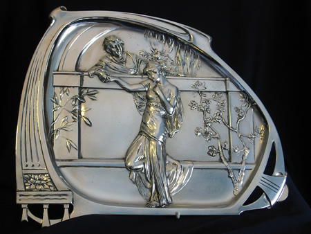WMF silver plated visiting card tray model 280