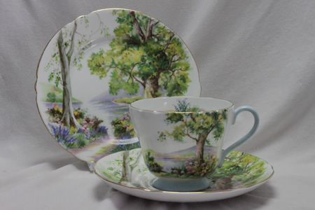 "Shelley cup saucer & plate-""Woodland"" pattern 13348"