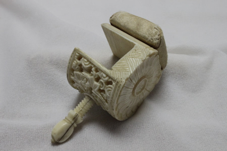 Ivory table clamp pin cushion