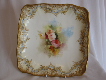 Doulton Burslem painted footed bowl