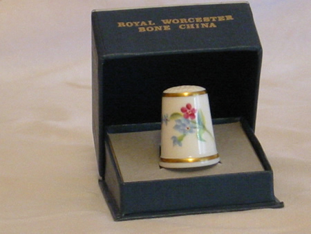 Royal Worcester thimble-Susan Waldron