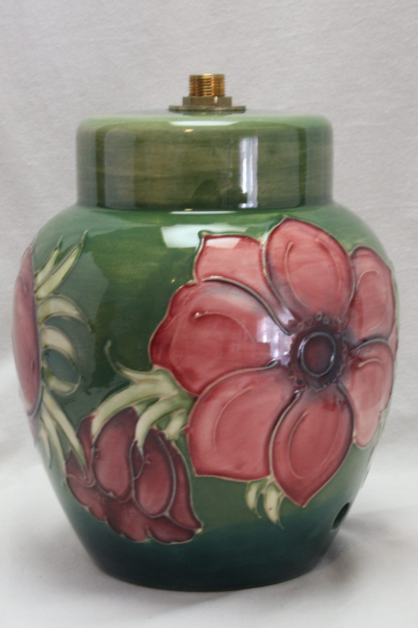Moorcroft lamp base Anenome