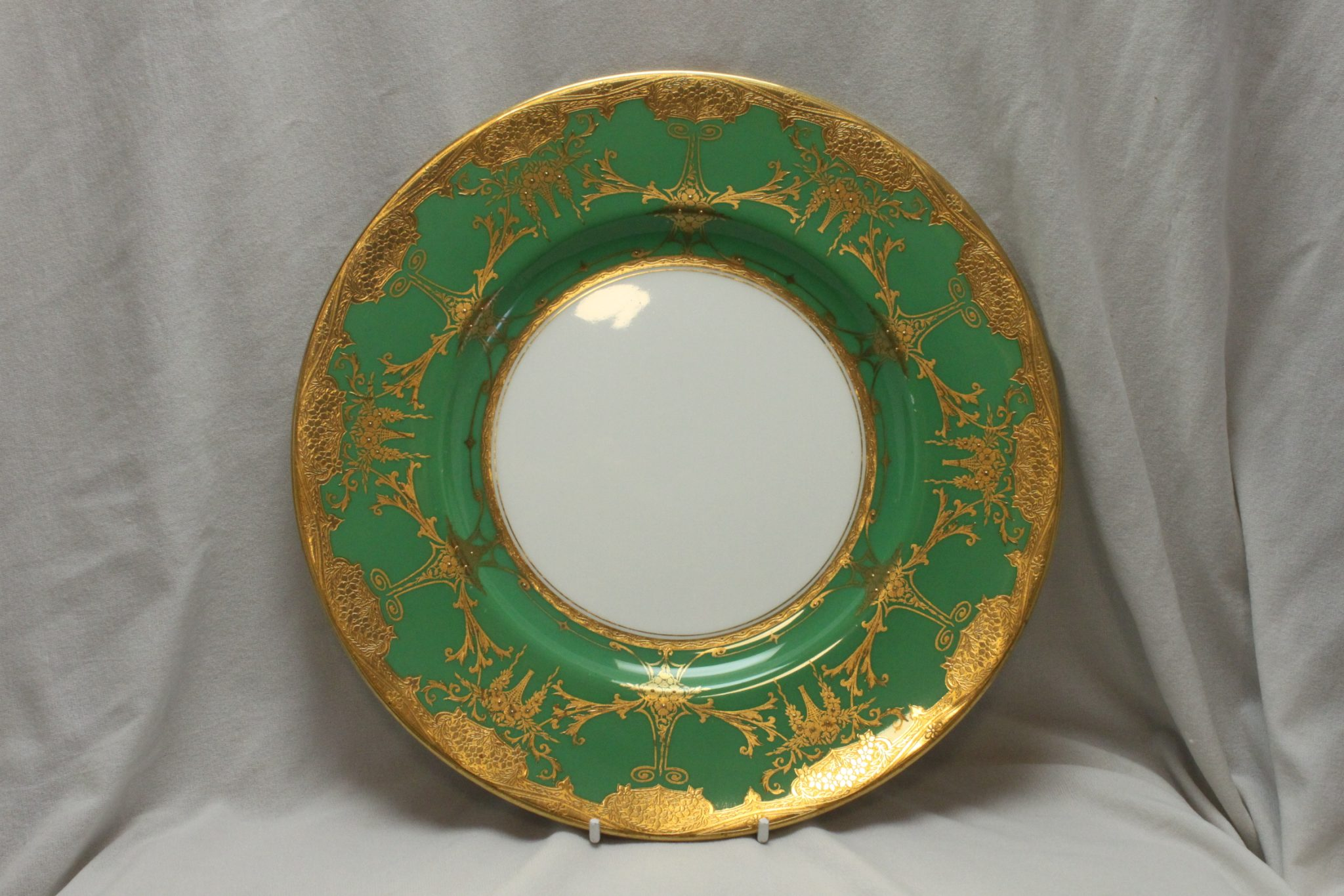 Minton gilded plate