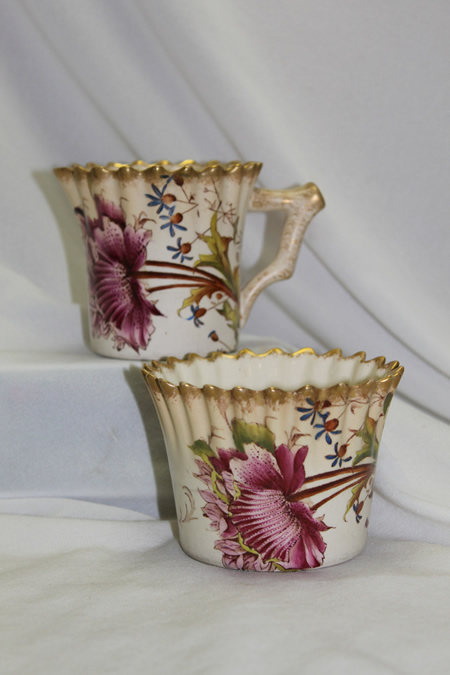 "Wiltshaw & Robinson sugar bowl & milk jug-""Poppy"""