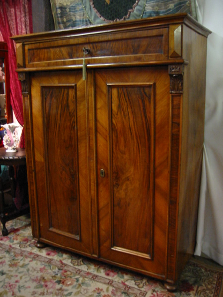 Austrian walnut linen press