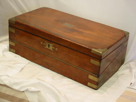 Large mahogany writing box