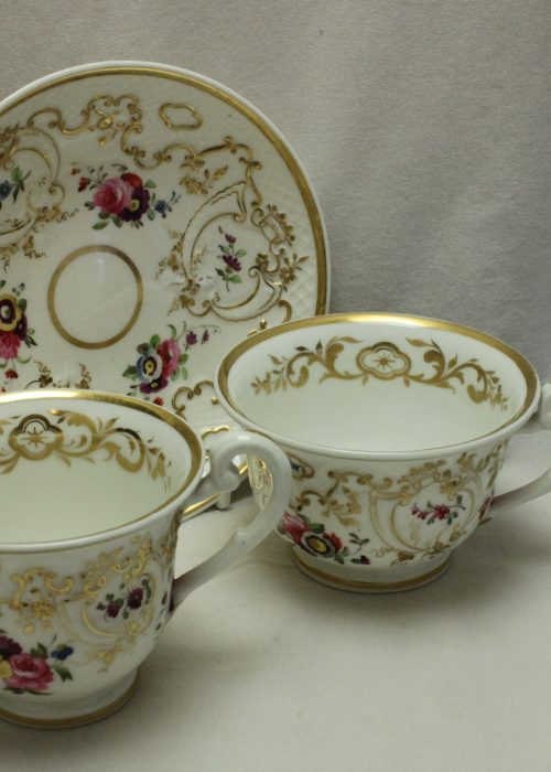 Ridgway hand painted and gilded trio