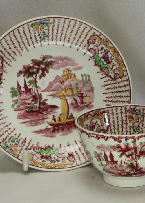 Tea bowl and saucer by Petrus Regout of Maastricht