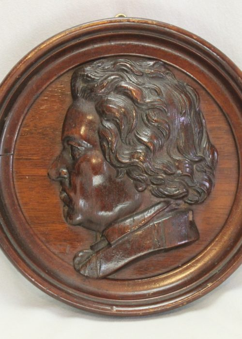 Hand carved wall plaque of Ludwig Beethoven