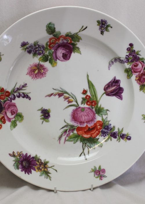 Large hand painted French porcelain platter