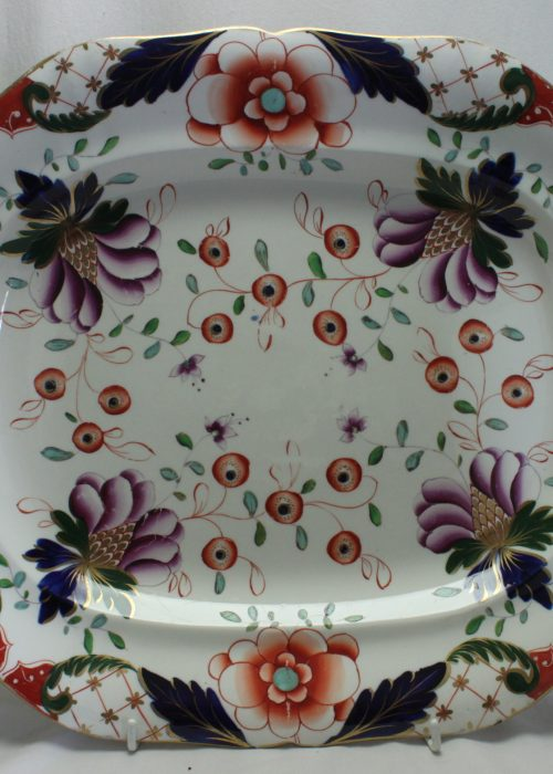 Davenport hand coloured platter
