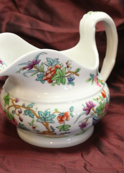 Ridgway hand coloured porcelain milk jug pattern 2/818