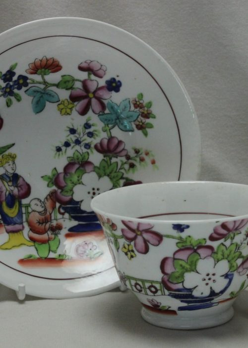 Hilditch hand coloured cup and saucer