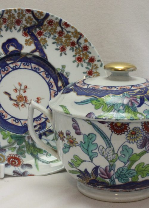 Spode lidded broth bowl on stand pattern 2117.