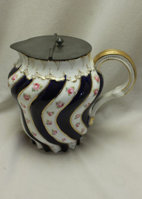 George Jones hand painted and gilded hot water jug