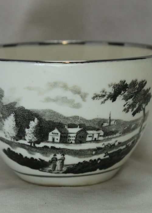 Bat printed porcelain cup c1810