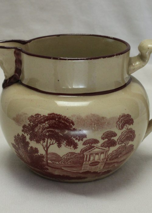 Bat printed milk jug c1810