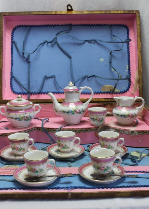 French child's hand painted porcelain teaset