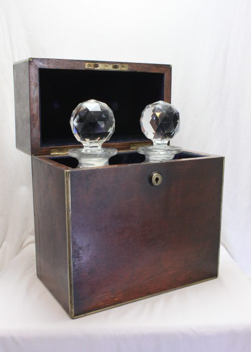Oak campaign decanter box