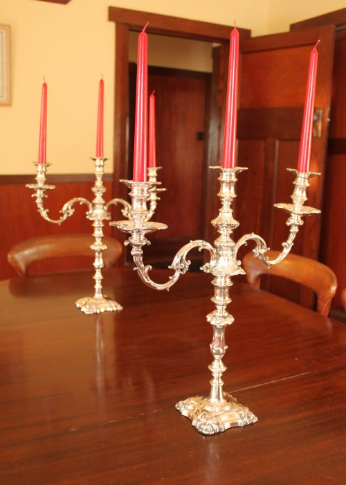 Pair of Old Sheffield Plate candelabra