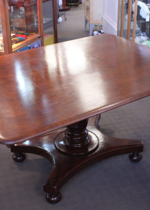 Cedar tilt top table