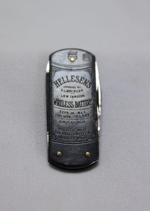 Hellesens advertising pocket knife