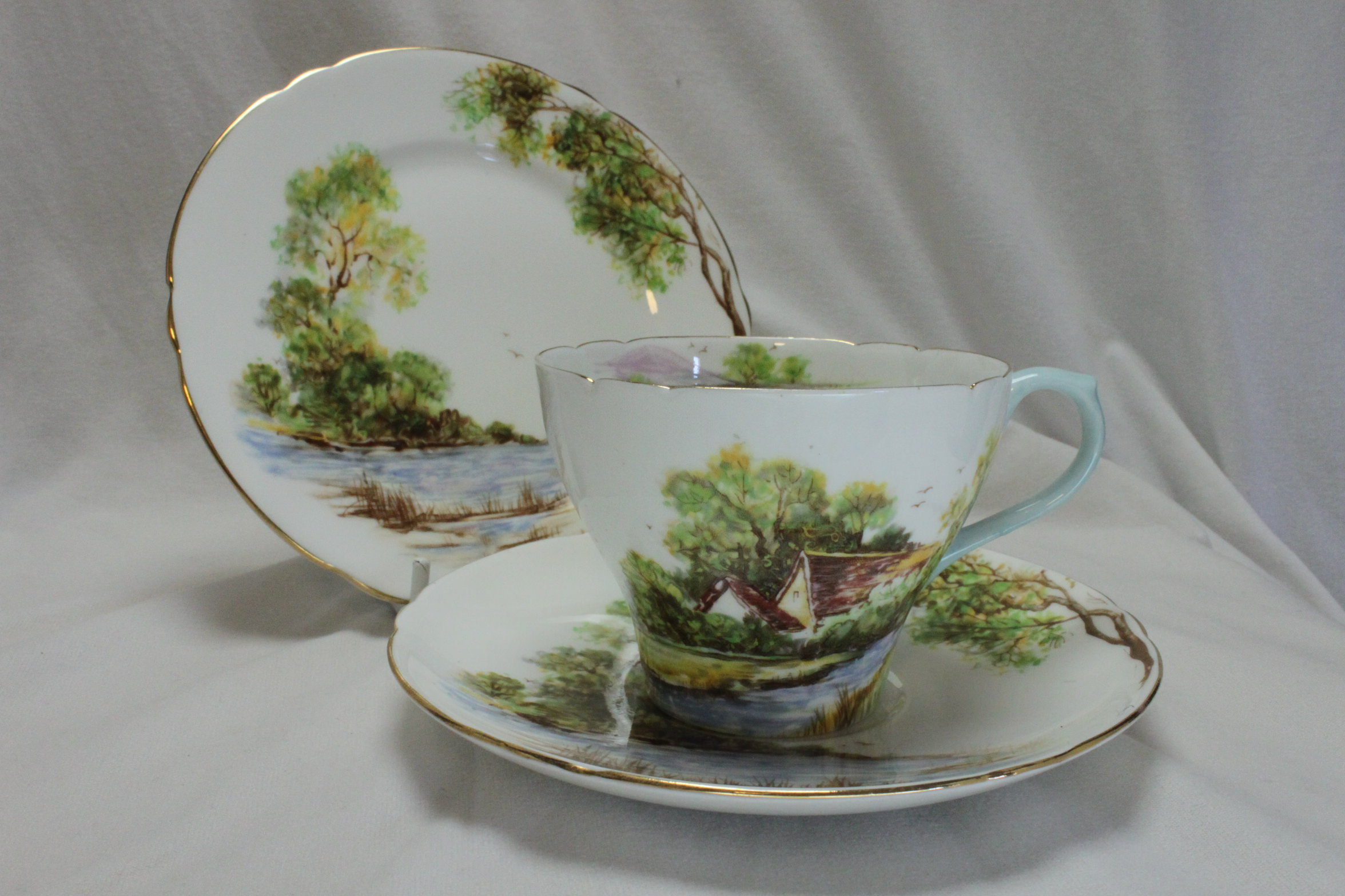 Shelley cup saucer & plate Old Mill pattern 13669