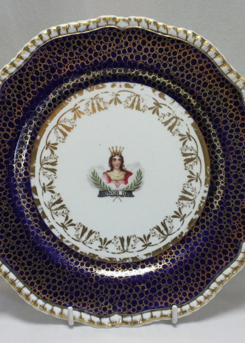 Spode handpainted plate for the Worshipful Company of Mercers