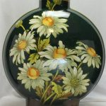 Doulton Lambeth hand painted flask vase
