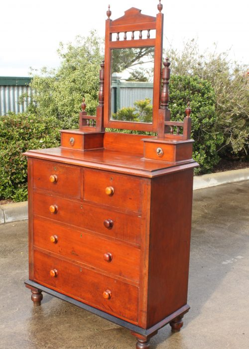 Kauri pine duchess chest made by C W Purnell Geelong