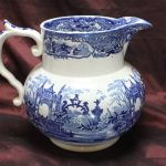 Large blue and white jug